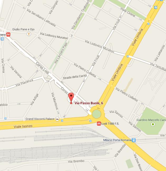 Mappa Il Mandala Milano